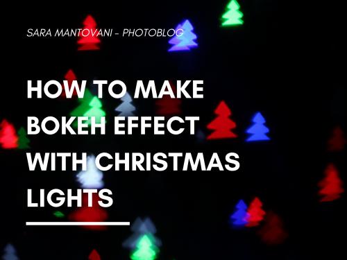 How to make bokeh effect with Christmas lights! #SMPhotolab